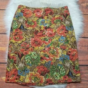 Talbots floral Rose pencil skirt 8p
